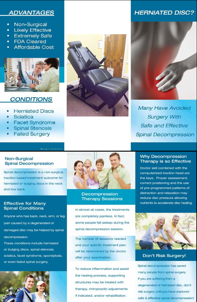 Spinal decompression brochure